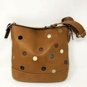 Coach Polka Dot Limited Edition Carmel Hobo Bucket